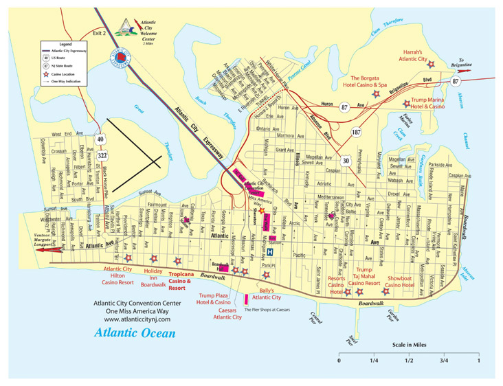 Atlantic City Map Atlantic City Golf Vacations Area Map Atlantic City Map